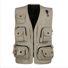 Men's Pro Journalist Photographer Studio Work Multifunctional Vest Removable Mesh Work Jacket(China)