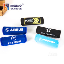 Boeing / Airbus / Skyteam / Police / Star Alliance Neoprene Handle Cover Protecting Sleeve Gift for Airman Men Flight Crew Pilot(China)
