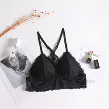 Buy Summer Wire Free Women Seamless Bra Lace Y Shape Strap Lingerie Brassiere Convertible Padded Bras Lingerie None Closure Sexy Bra