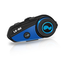 Lexin más nuevo B2 moto rcycle intercomunicador moto inalámbrico BT Interphone Bluetooth casco auriculares piloto y pasajero(China)