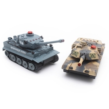HUANQI H508-10 RC Twin Battle Tank Set Crawler Simulation Two Infrared Radio Remote Control RC Tanks For Children Boy Gift Toy(China)