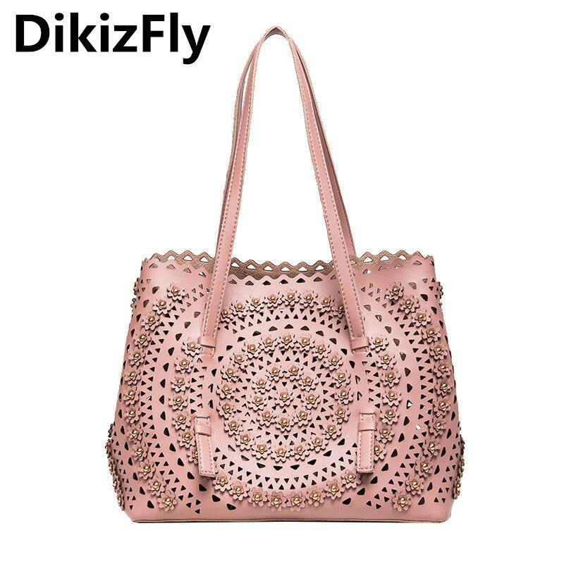 DikizFly Hollow Out Handbags Large Totes Bags Women Crossbody Bags Fashion Bag Lady Shoulder Bag Crossbody Handbag Sac a Main<br>