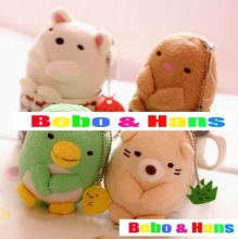 New Cute cartoon animals doll plush charm / mobile phone strap / Wholesale