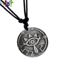 The Legend of Zelda Breath of the Wild choker necklace scalable rope chain vintage Pendant Necklaces big eyes logo charms gift