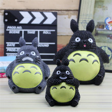 3 Size Resin Carton Cat Piggy Bank Totoro Novelty Money Box Cube Home Decorative Saving Box Coins storage Box Money Bank Cofre(China)