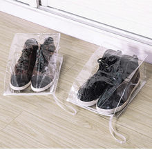 5 pcs/lot Transparent PVC Travel Shoe Bag Portable Waterproof Dust Proof Travel Shoe Organizer