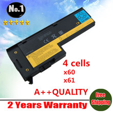Wholesale NEW LAPTOP BATTERY FOR IBM LENOVO X60 X61  X60S X61S Series 4 cells free shipping