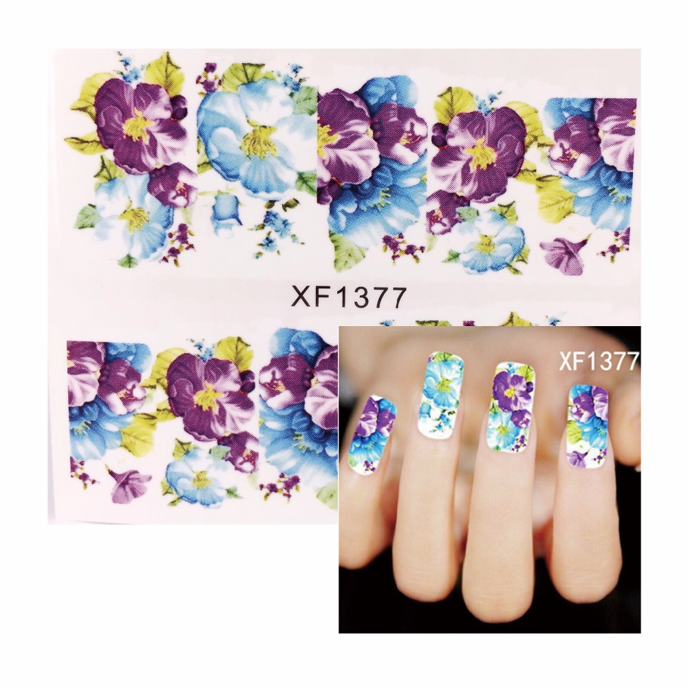 YWK 1 Sheet Optional Water Transfer Nail Sticker DIY 3D Flowers Design Nails Art Decals Manicure Tools(China (Mainland))