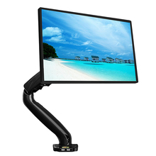 NB F80A Monitor Desktop Stand Mechanical Spring Lifting TV Mount 24-35 inch Height Adjustable Holder Base with Double USB Port