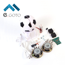 Mini Active Speaker DIY Kit Loudspeaker Suite Football Shape For Electronic Production Training Experimental Teaching Suite