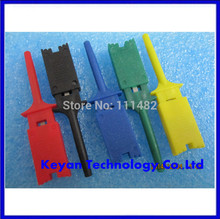 Free Shipping 10pcs Test Hooks Clips for Logic Analyzers Logic Test Clip 5 Colors: Red Black Yellow Green Blue(China)