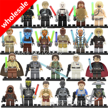 Wholesale 20pcs Star Wars Embo Luke Jawa Figure Unduli Yularen Aayla Secura Ahsoka Death Star Droid Building Blocks Model Toys
