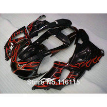 MOTOMARTS Full injection ABS fairings set for YAMAHA R1 1998 1999 model red flames in black YZF R1 98 99 custom full fairing kit(China)