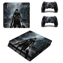 Bloodborne PS4 Slim Skin Stickers Wrap for Sony PlayStation 4 Slim Console and 2 Controllers Decorative Skins