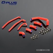 Silicone Radiator Coolant Hose Kit For KAWASAKI ZX7R 1996-2003 97 98 99(China)