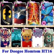 Soft TPU Silicon Phone Cases For Doogee Homtom HT16 Shell Covers Tiger Captain American Batman Housing Bag Skin Shield Hood Case