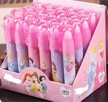 24pcs/lot students prize children korea stationery cartoon princess lipstick lippie pencil rubber eraser birthday gift(China)