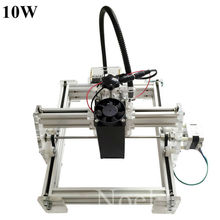 Laseraxe 450nm 10000mW 10W DIY Desktop Mini Laser Engraver Engraving Machine Laser Cutter Etcher 17X20cm Adjustable Laser Power