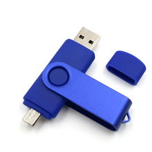 Hot Sell Metal OTG USB Flash Drive For Android System Pendrive Usb Stick Full Capacity 8GB 16GB 32GB Pen Drive Gift(China)