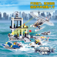 Fun Children's building blocks toy compatible Legoes police car police helicopter model intelligence education building blocks(China)