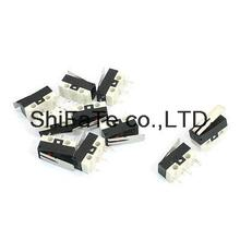 10Pcs AC 125V 1A NO NC Momentary Short Hinge Lever Arm Micro Limit Switches KW10