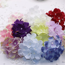 2artificial silk decorative hydrangea heads simulation DIY flower head wedding home decoration - EQ world of flowers Store store