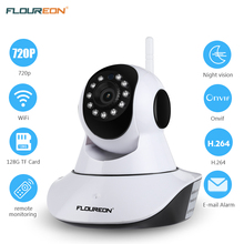 Floureon 720P Wireless IP camera 1.0MP WLAN H.264 Security CCTV Pan/Tile Night vision WiFi camera Baby Monitor 2 way audio cam(China)