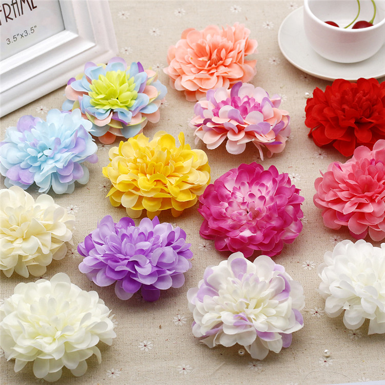 Wreath Fake Flores Bouquet Wedding Decoration Silk Gerbera Artificial Flower
