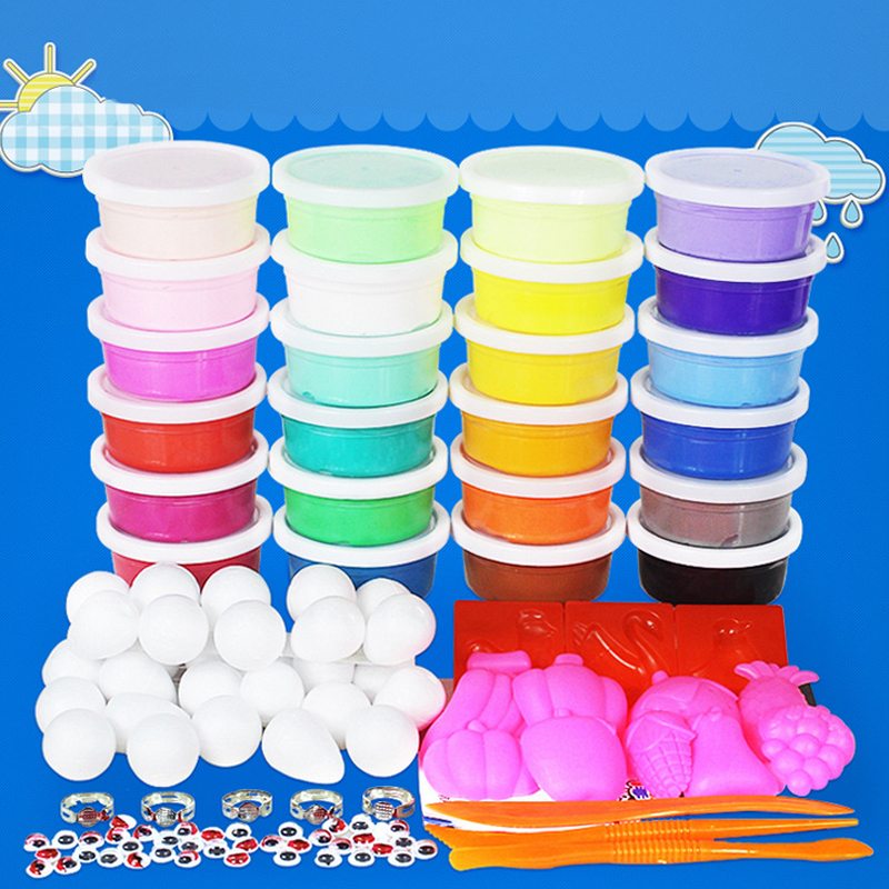 24 Colors A Set DIY  Fimo Polymer Modelling Soft Clay Blocks Plasticine Playdough clay paper clay mold free<br><br>Aliexpress