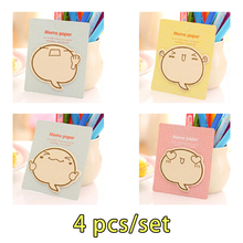 4pcs Kawaii Sticky Notes Memo Pad Stickers Block Notes Notebook Bookmark Calendar Diary Decor School Office Stationery Supplies