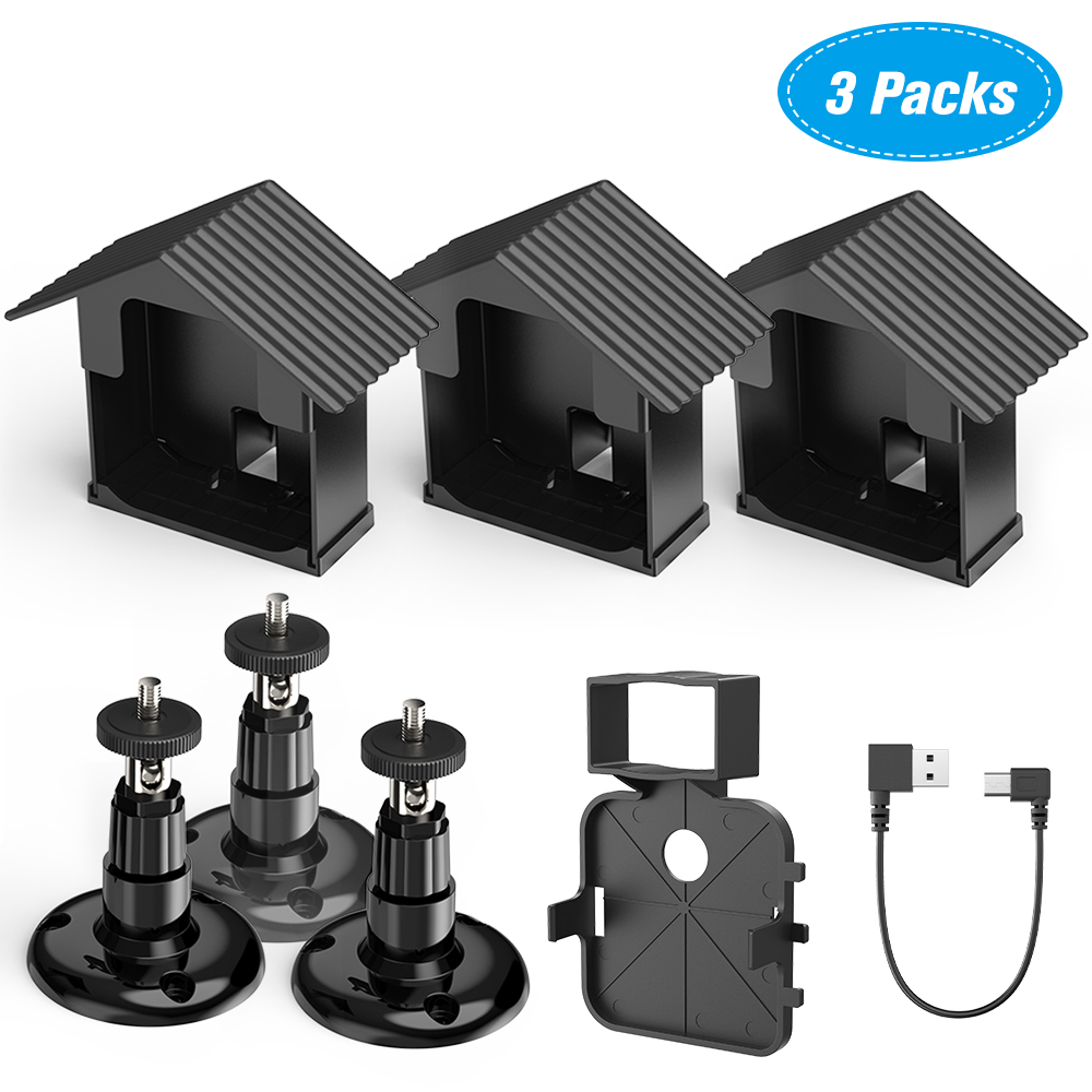 Bracket-Kit Protective Wall-Mount Uv-Camera Security-System Blink Weatherproof for 360-Degree title=