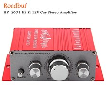 New HY - 2001 Hi-Fi 12V Mini Auto Car Stereo Amplifier 2 Channel Audio Support CD DVD MP3 Input for Motorcycle Home(China)