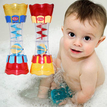 Hot 1pcs Baby Bathing Toys Water Leakage Hourglass Columns Swivel Water Cup Kaleidoscope Bathroom Toys for Children free ship(China)