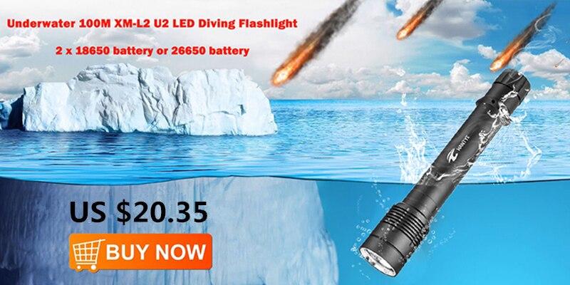 diving flashlight 26650