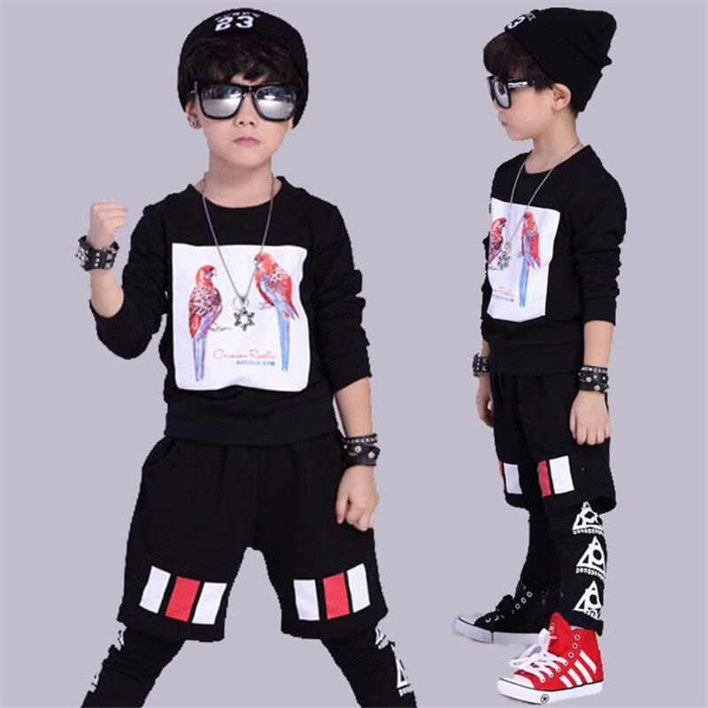 Boys clothing set long sleeve boy sports suits kids suit performance wear cotton boy tracksuit school children Hip-hop clothing<br><br>Aliexpress