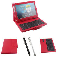 Free shipping Removable Bluetooth Wireless Case Keyboard Cover For Samsung Galaxy Tab 2 10.1 P5100 P5110 + Universal Stylus Pen