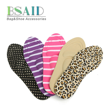BSAID DIY Cutting Sport Arch Support Orthotic Soft New Women Feet Care Massage High Heels Sponge 3D Shoe Insoles Cushions Pads(China)