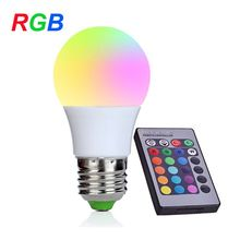 NEW E27 RGB LED Bulb 3W LED Lamp 110V 220V Mini High Power Lampada Colorful With Remote Controller(China)