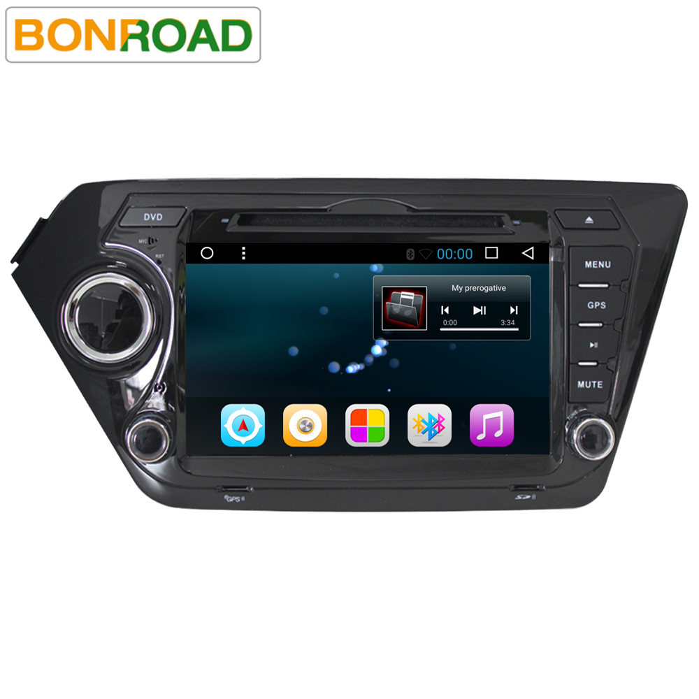Android 6.0 2G RAM 16G Flash Quad Core 2din Multimedia In dash Car Radio GPS Navigation Video Player for Kia Rio K2 (2011-2015)(China)