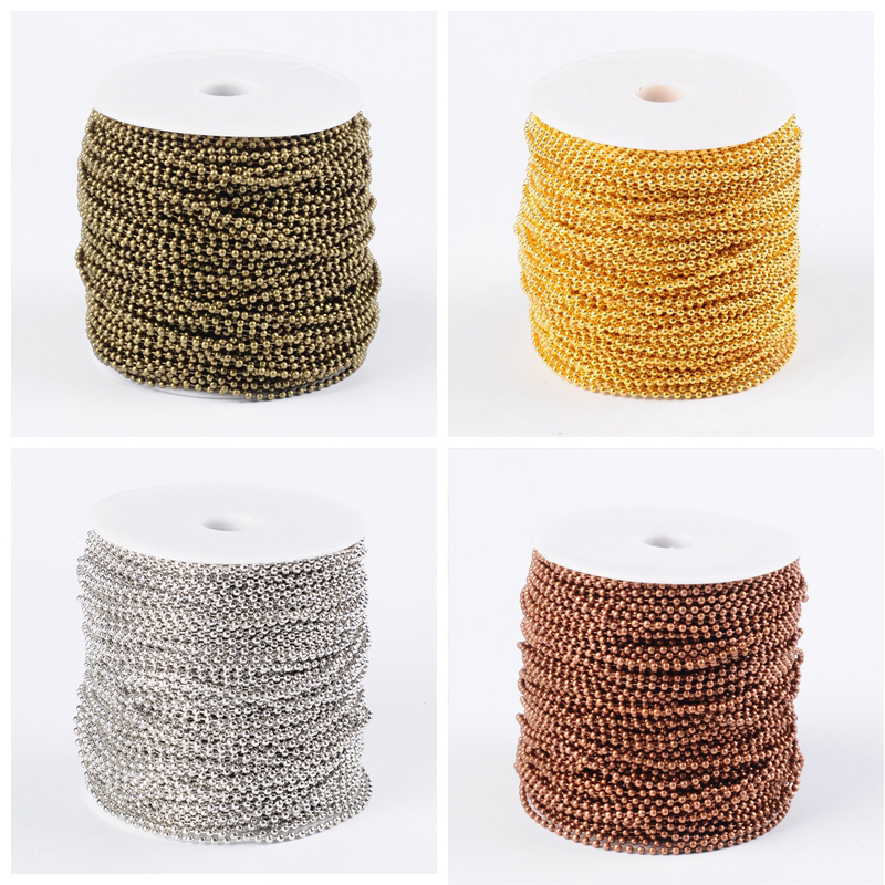 100M DIY Gold//Silver Plated Metal Cable Open Link Iron Chain For Jewelry Making