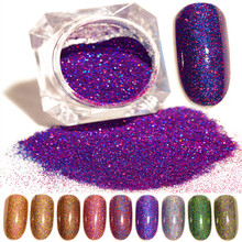 1 Box BORN PRETTY Starry Holographic Laser Nail Glitter Powder 1.5g Holo Dust Manicure Nail Art Glitter Powder Decoration(China)