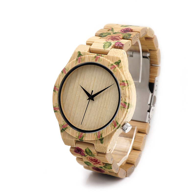 BOBO BIRD Flower Designer Men Wood Watches with Flowe $