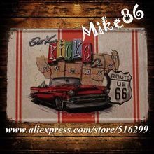 [ Mike86 ] Mother Road Car Route US 66 Metal Signs Gift PUB Wall art Painting Craft Bar Decor A-831 Mix order 20*30 CM