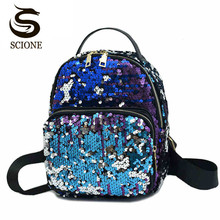 Buy Scione New Famous Sequins Backpack Women Cute Schoolbag Colorful Sequined Harajuku Backpack Girls Kawaii Leather Bling Backpacks for $12.57 in AliExpress store