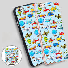 airplane cartoon Phone Ring Holder Soft TPU Silicone Case Cover for iPhone 4 4S 5C 5 SE 5S 6 6S 7 Plus