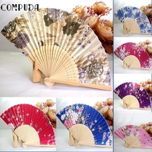 SP 26 Mosunx Business 2016 Hot Selling  1PC Japanese Cherry Blossom Folding Hand Dancing Wedding Party Decor Fan