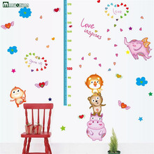 YunXi Cartoon Animal Stickers Fly Like Body Affixed To Children Living Room Corridor Decoration PVC Wall Stickers 176*127CM(China)
