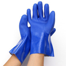 NEW Labour Protectionb Blue Glove Against Acid Resistant Oil Wear-resisting Rubber Gloves Lab Household Industry Service
