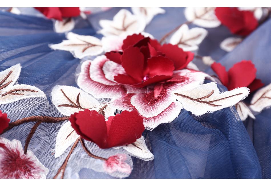Angel Wedding Dress Marriage Evening Bride Party Prom Bridal Gown Vestido De Noiva Blue camouflage, fantasy flowers 2017 7572 17