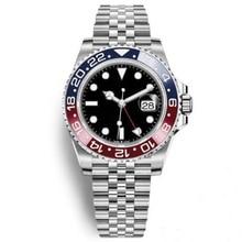 Mens Wristwatch PEPSI Ceramic Bezel Stainless Steel Watch 116710 Automatic GMT II Movement Limited Watch New Jubilee Master(China)